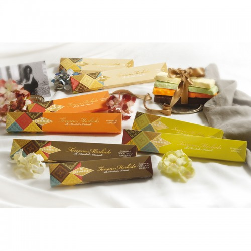 Almond and Pistachio nougat bar with Vanilla flavoured coating by Condorelli